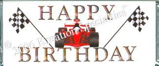 Race Car Happy Birthday Chocolate Candy Bar Party Favors